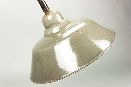 Grey Parrot | Greyish enamel lamp shade with mounting construction