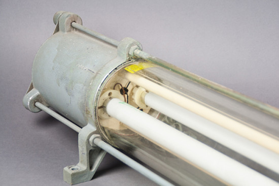 Black Rhino | Heavy Glass Industrial Fluorescent Tube Lamp