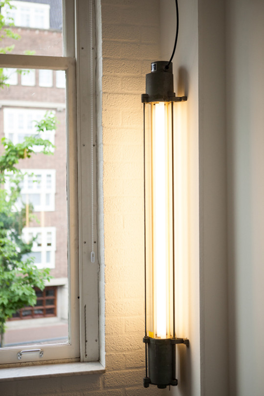 Black Rhino | Heavy Glass Industrial Fluorescent Tube Lamp