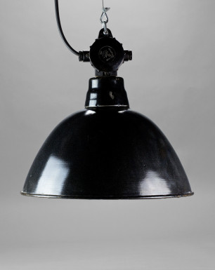 Medium Bauhaus-style enamel lamp shade
