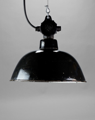 Black Bird | Small enamel lamp shade Bauhaus-style