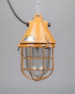 Orange Flying Dragon | Conical Well-glass Pendant Light With Removable Cage