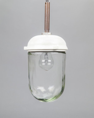 Nautilus | Bauhaus Style Porcelain and Glass Pendant Light