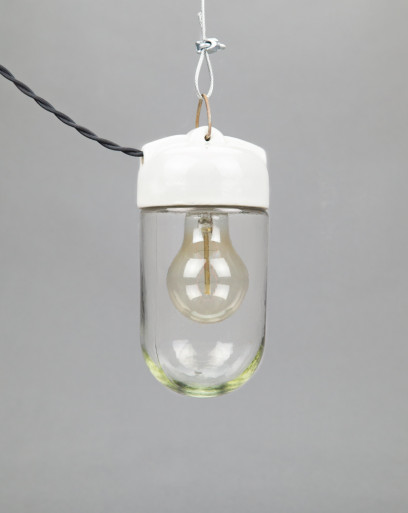 Baby Mussel | Small Pendant Porcelain And Glass Light
