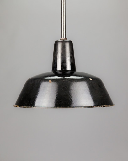 Royal Penguin | Rounded enamel lamp shade with extension rod