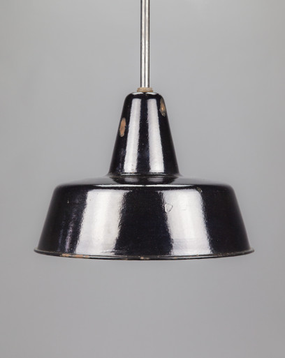 King Penguin |Large conical enamel lamp shade with extension rod