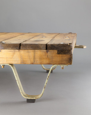 Large Trolley Table | Large wooden coffee table with wheels