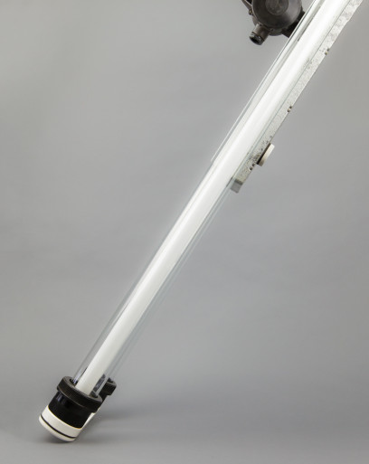 Giant Ox | Large Industrial Double Fluorescent Light Fixture From Late DDR era