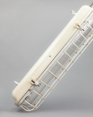 Caiman | Caged Industrial Fluorescent Light