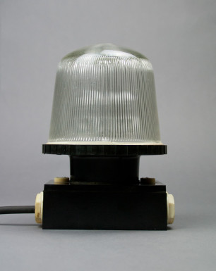 Black Squirrel | Bakelite Wall And Ceiling Lamp From The Late DDR Era