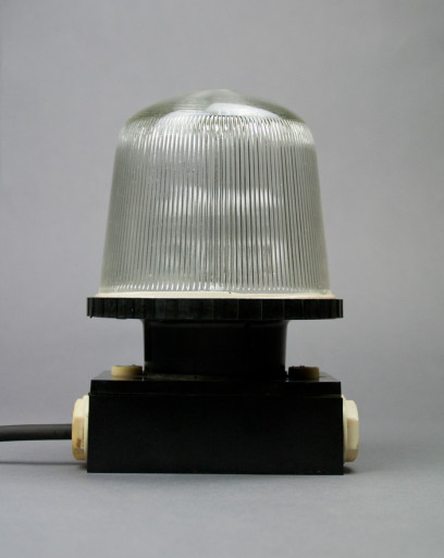 Black Squirrel   Bakelite Wall And Ceiling Lamp From The Late DDR Era