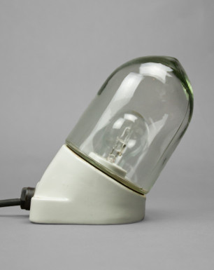 Pearl Oyster | Porcelain and Glass Light With Angled Base