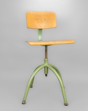 Green Chair | Green Wooden DDR Chair