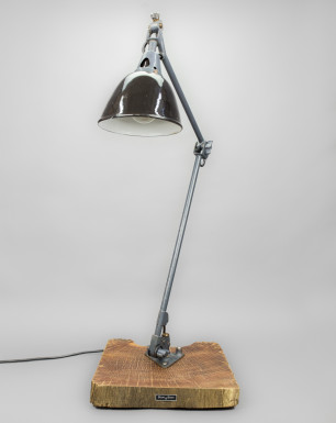 Black-Headed Python | Midgard Desk Lamp On Azobé Socket