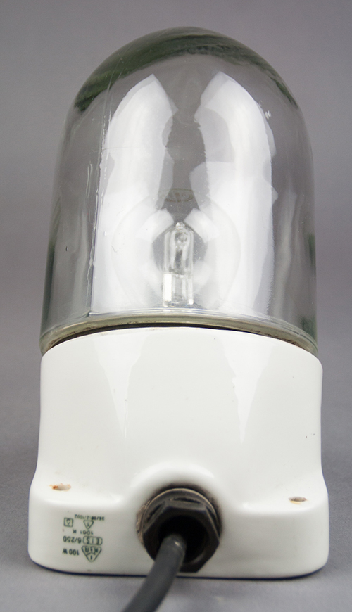 Pearl Oyster   Porcelain and Glass Light With Angled Base