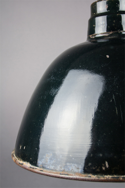 Albatross | Large Bauhaus-style enamel lamp shade
