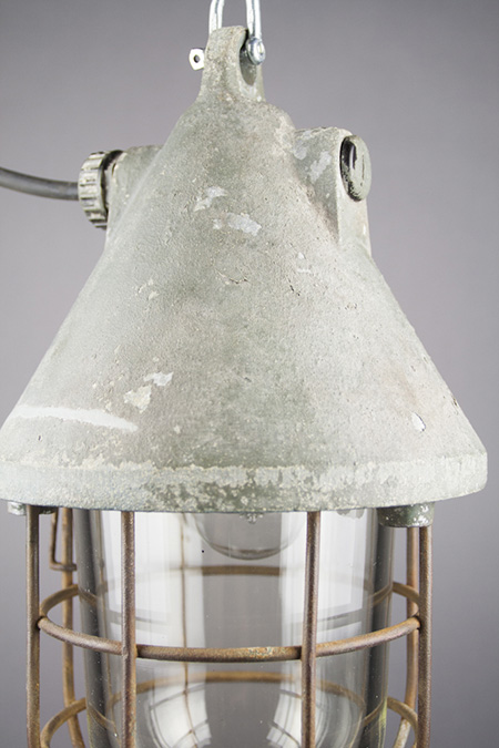 Dragon   Caged Conical Well-glass Pendant Lamp