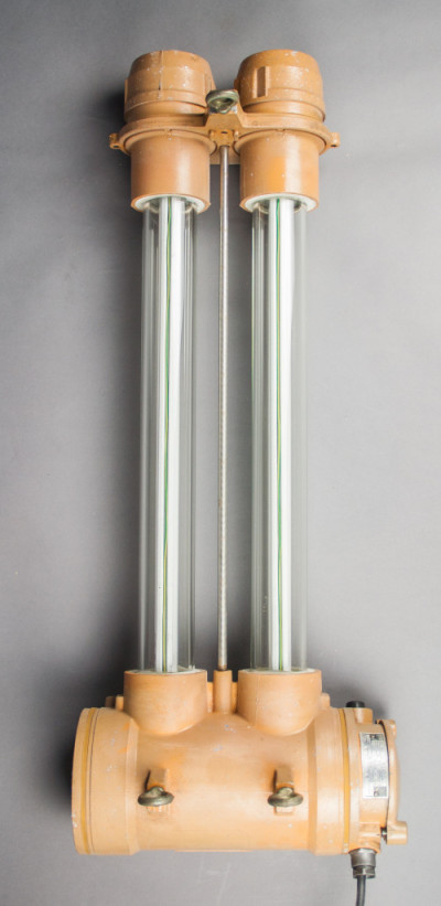 River Lobster | Short Industrial Double-tube Fluorescent Light Fixture