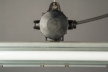 Ox | Industrial Double Fluorescent Light Fixture From Late DDR era