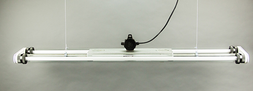Giant Ox   Large Industrial Double Fluorescent Light Fixture From Late DDR era