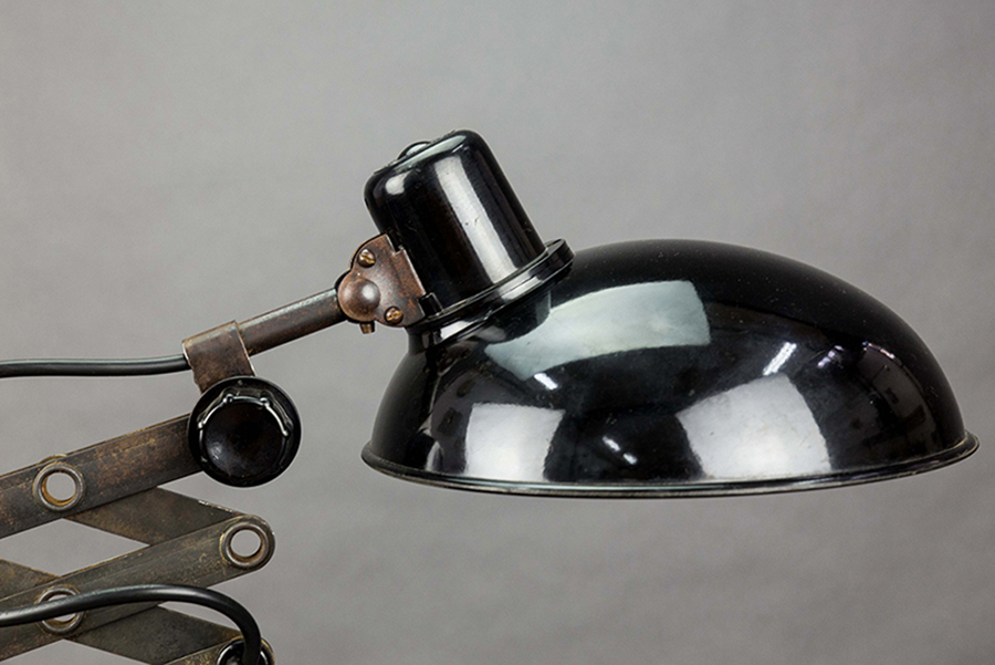 Black Mamba | Bauhaus Inspired Desk Lamp On Azobé Socket