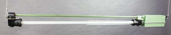 Mule Deer | Green Industrial Fluorescent Pendant