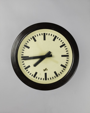 Black Backelite Cuckoo | Black Bakelite Industrial Clock